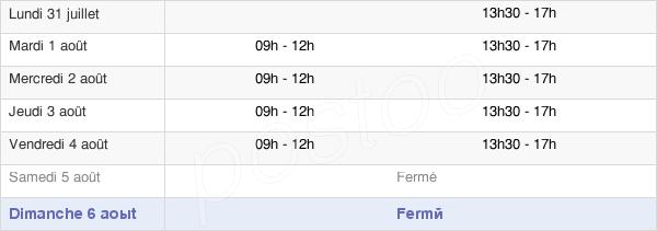 horaires d'ouverture de la Mairie D'Idron