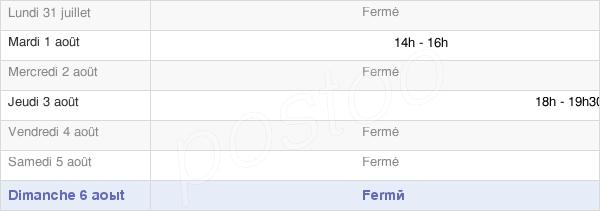 horaires d'ouverture de la Mairie De Méritein