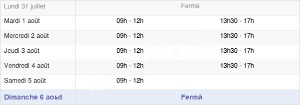 horaires d'ouverture de la Mairie D'Arzacq-Arraziguet