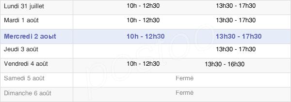 horaires d'ouverture de la Mairie De Chéraute