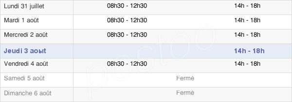horaires d'ouverture de la Mairie D'Ogeu-Les-Bains