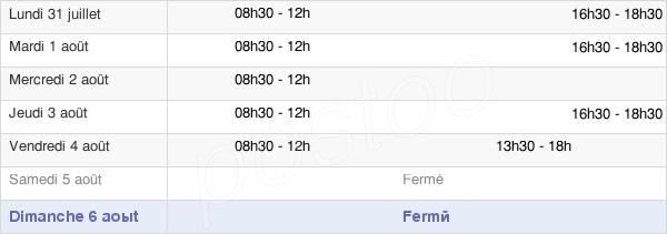 horaires d'ouverture de la Mairie D'Artigueloutan