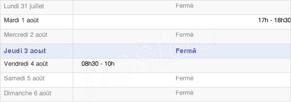 horaires d'ouverture de la Mairie De Gomer
