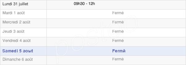 horaires d'ouverture de la Mairie D'Anoye