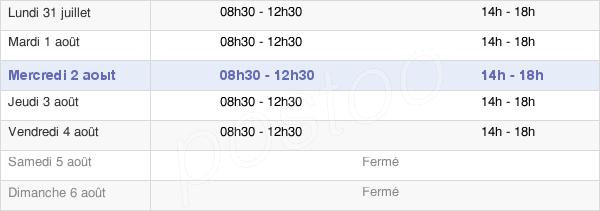 horaires d'ouverture de la Mairie De Saint-Étienne-De-Baïgorry
