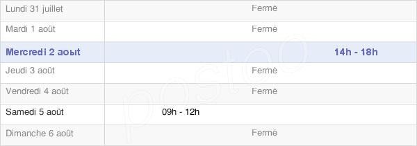 horaires d'ouverture de la Mairie De Poey-D'Oloron
