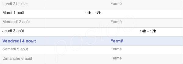 horaires d'ouverture de la Mairie De Gerderest