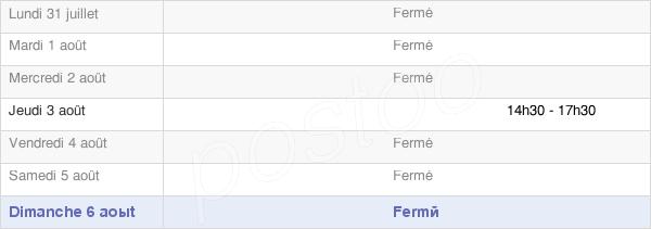 horaires d'ouverture de la Mairie De Bentayou Sérée