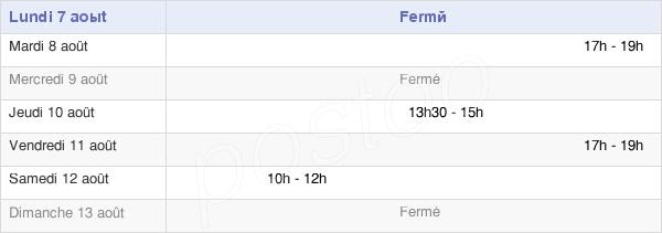 horaires d'ouverture de la Mairie De Gotein-Libarrenx