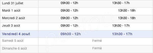 horaires d'ouverture de la Mairie D'Ustaritz