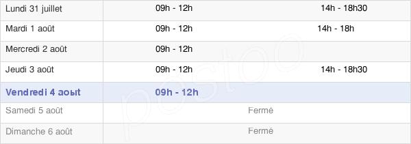 horaires d'ouverture de la Mairie D'Agnos