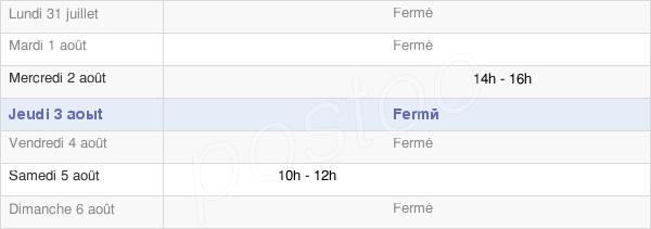 horaires d'ouverture de la Mairie De Géus-D'Arzacq