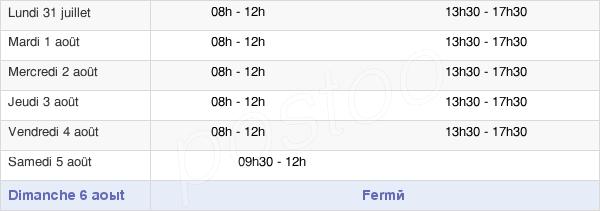 horaires d'ouverture de la Mairie D'Oloron-Sainte-Marie