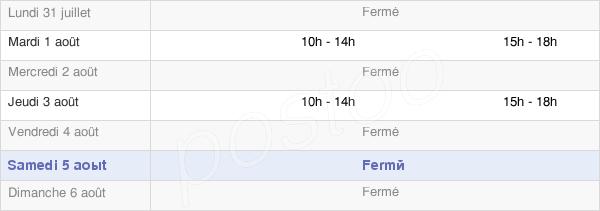 horaires d'ouverture de la Mairie De Saint-Martin-D'Arberoue