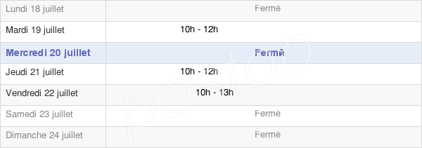 horaires d'ouverture de la Mairie De Saint-Boès