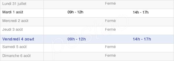 horaires d'ouverture de la Mairie De Sainte-Colome