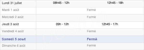 horaires d'ouverture de la Mairie De Bésingrand