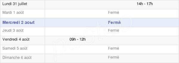 horaires d'ouverture de la Mairie D'Ossas-Suhare