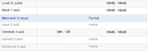horaires d'ouverture de la Mairie De Gurs