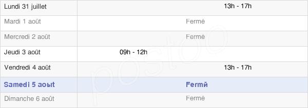 horaires d'ouverture de la Mairie D'Orin