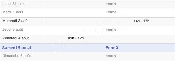 horaires d'ouverture de la Mairie De Sedzère