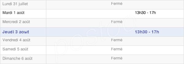 horaires d'ouverture de la Mairie D'Aste-Béon