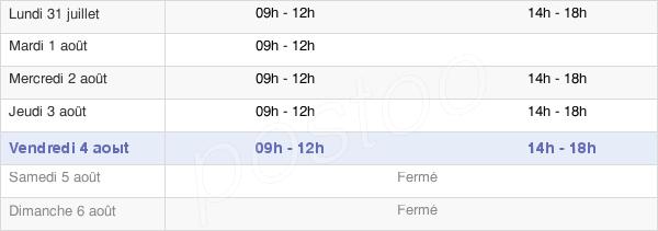 horaires d'ouverture de la Mairie D'Assat