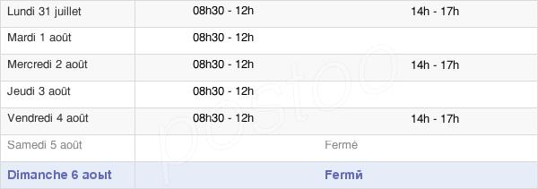 horaires d'ouverture de la Mairie De Mazères-Lezons