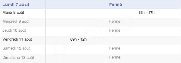 horaires d'ouverture de la Mairie De Saint-Michel