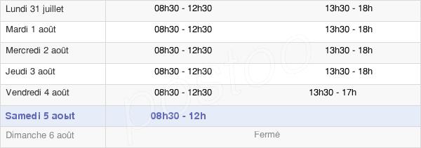 horaires d'ouverture de la Mairie De Mauléon-Licharre