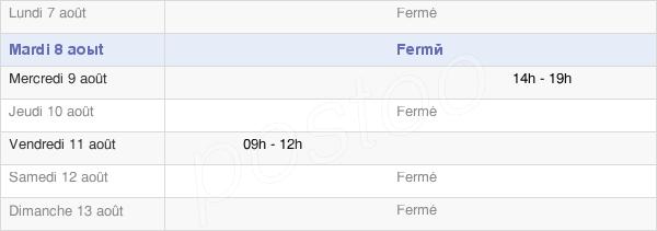 horaires d'ouverture de la Mairie De Doumy