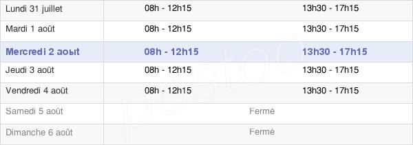 horaires d'ouverture de la Mairie D'Ascain