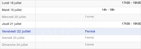 horaires d'ouverture de la Mairie De Cescau