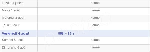 horaires d'ouverture de la Mairie De Bétracq