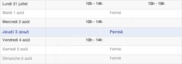 horaires d'ouverture de la Mairie De Saint-Esteben