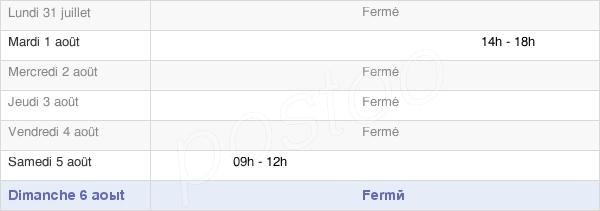 horaires d'ouverture de la Mairie De Labets-Biscay