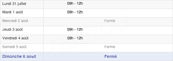 horaires d'ouverture de la Mairie De Canté