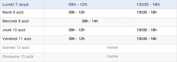horaires d'ouverture de la Mairie De Montségur