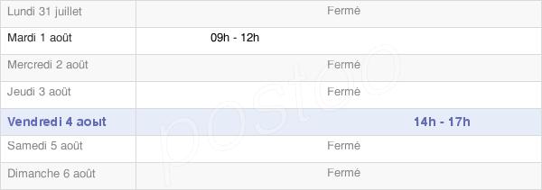 horaires d'ouverture de la Mairie De Saint-Denis-Catus