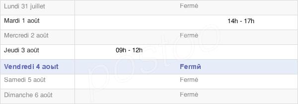horaires d'ouverture de la Mairie De Bompas