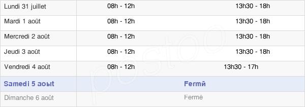 horaires d'ouverture de la Mairie De Saint-Jean-Du-Falga