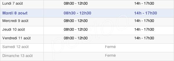 horaires d'ouverture de la Mairie De Saint-Paul-De-Jarrat
