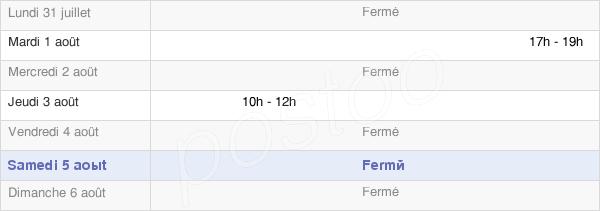 horaires d'ouverture de la Mairie De Bédeilhac-Et-Aynat