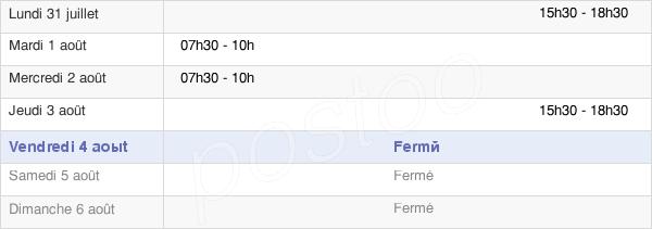 horaires d'ouverture de la Mairie De Prayols