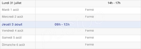 horaires d'ouverture de la Mairie De Sieuras
