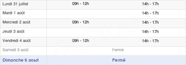 horaires d'ouverture de la Mairie D'Arignac