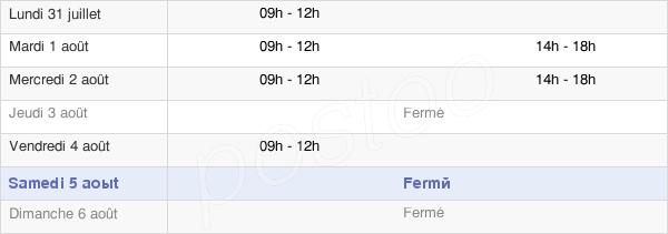 horaires d'ouverture de la Mairie De Vernajoul