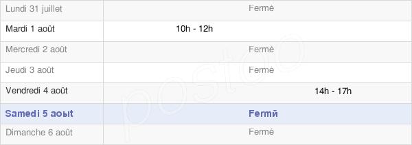 horaires d'ouverture de la Mairie De Gaudiès