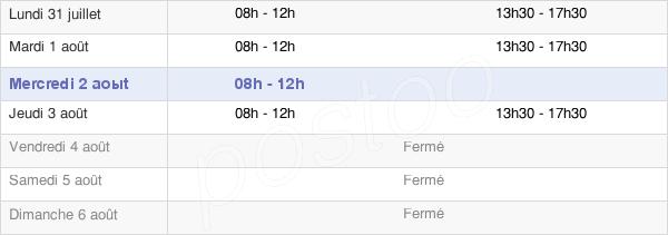 horaires d'ouverture de la Mairie De Serres-Sur-Arget