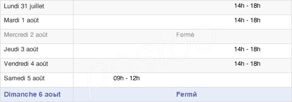 horaires d'ouverture de la Mairie De Saint-Cirgues
